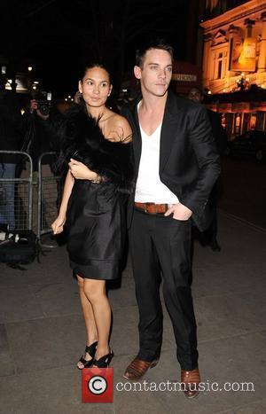 Jonathan Rhys Myers and guest Not Another Burn's Night held at the St Martin's Lane Hotel - Arrivals London, England...