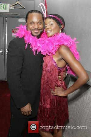Malcolm Jamal Warner and guest ' Butterflies Over Hollywood ' event by Maybelline, the Will and Jada Smith Family Foundation...