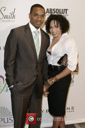 Duane Martin and Tisha Campbell  ' Butterflies Over Hollywood ' event by Maybelline, the Will and Jada Smith Family...