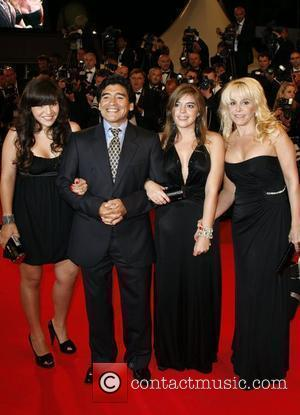 Diego Maradona and his family The 2008 Cannes Film Festival - Day 8 'Maradona' - Premiere Cannes, France - 21.05.08