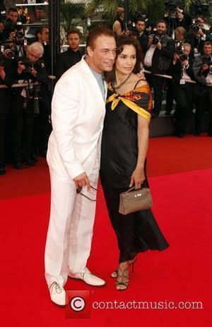 Jean-Claude Van Damme and guest The 2008 Cannes Film Festival - Day 3 - Un Conte De Noel - Premiere...
