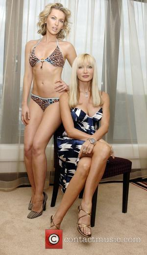 Caprice Bourret and Model launches her new swimwear collection at Intercontinental Hotel London,England - 22.01.08