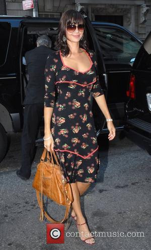 Catherine Bell arriving at Fox studios to appear on the Morning Show with Mike and Juliette New York City, USA...