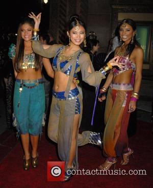 Miss Teen USA Katie Blair, Miss Universe Riyo Mori and Miss USA Rachel Smith Roberto Cavalli Vodka and Giuseppe Cipriani...