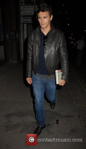 James Franco,  leaves the Duke of York Theatre, after after the press night showing of 'In Celebration'  London,...