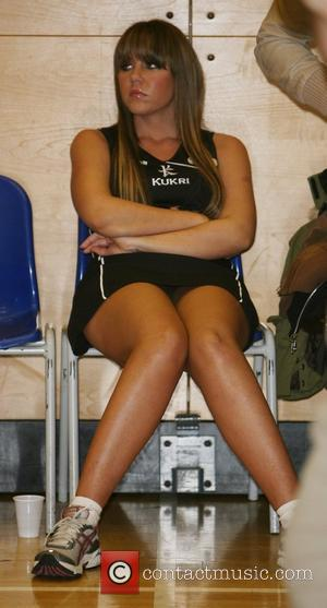Michelle Heaton looking decidedly unimpressed Celebrity Netball Sevens, held at Sport and Performing Arts Centre, Hackney Community College London, England...