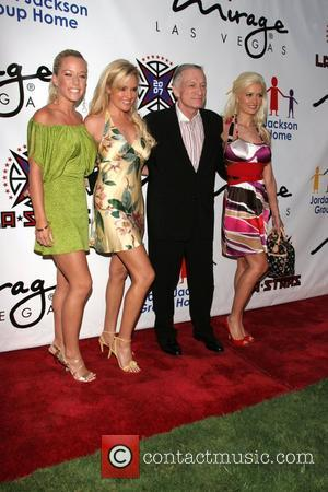Kendra Wilkinson, Bridget Marquardt, Hugh Hefner and Holly Madison The Sports Dream Celebrity Poker Tournament at the Playboy Mansion Los...