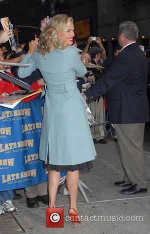 Rebecca Romijn Stamos and David Letterman