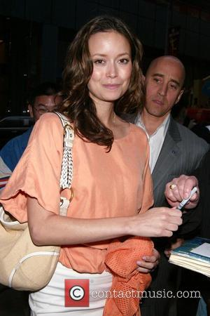 Summer Glau in town for the FOX TV Upfront, signing autographs for fans while leaving her hotel New York City,...