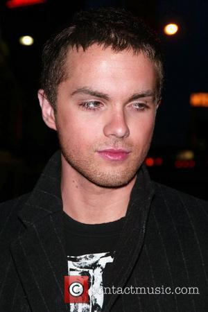 Thomas Dekker in town for the FOX TV Upfront, signing autographs for fans while leaving his hotel New York City,...