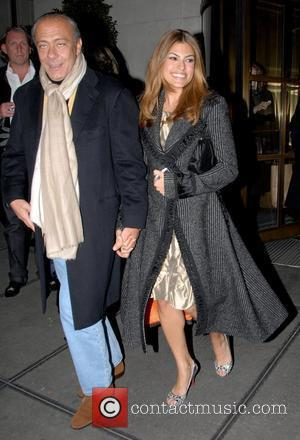 Fawaz Gruosi and Eva Mendes leaving her hotel in midtown Manhattan New York City, USA - 04.12.07