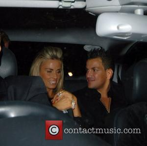 Katie Price aka Jordan and Peter Andre,  'An Audience With Celine Dion' at Broadcasting House - Departures London, England...