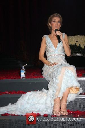 Celine Dion  at her final show press conference after five years at The Colosseum at Caesars Palace  Las...