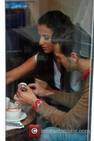 Chantelle Houghton and Samuel Preston having a coffee Brighton, England - 21.05.07
