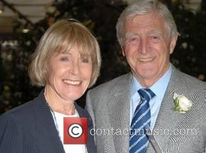 Michael Parkinson and guest Chelsea Flower Show - press & VIP preview day at the Royal Hospital, Chelsea London, England...