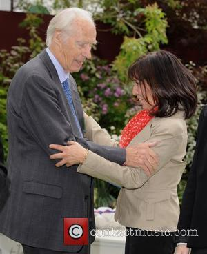George Martin and Olivia Harrison