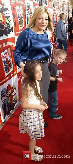 Taylor Dayne and children attend the Dvd Release party for the film Alvin and the Chipmunks, held at El Rey...