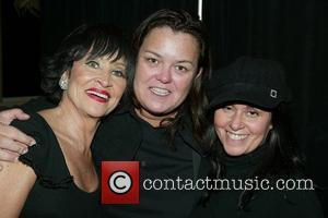 Chita Rivera, Rosie O'Donnell and Chita's daughter Lisa Mordente backstage after Chita Rivera's performance of her new show at Feinstein's...
