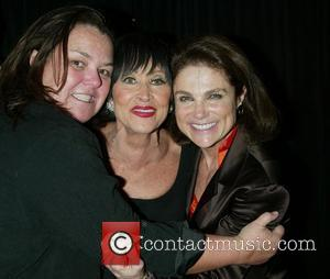 Rosie Odonnell, Chita Rivera and Tovah Feldshuh backstage after Chita Rivera's performance of her new show at Feinstein's Nightclub in the Loews Regency Hotel.