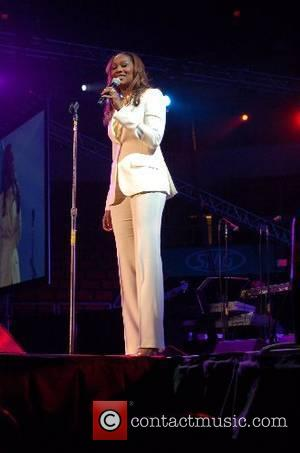 Yolanda Adams, multi-award winner and Gospel Performing artist speaks to the audience at the Christian Music Awards held at the...