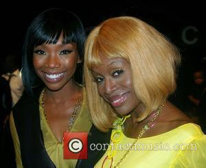 Brandy and Coco Johnsen Mercedes-Benz Fashion Week 2008 at Smashbox Studios - Christian Audigier - Arrivals Culver City, California -...