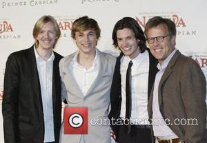 Andrew Adamson, William Moseley, Ben Barnes and Mark Johnson
