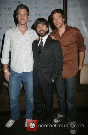 Ryan McPartlin, Joshua Gomez and Zachary Levi NBC's ' Chuck ' series premiere party at PURE night club in Caesars...