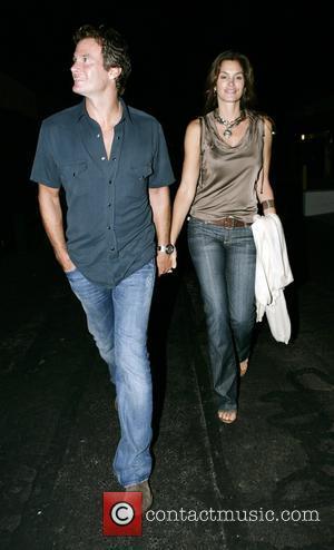 Cindy Crawford looking loved up as she leaves Nobu Restaurant with her husband Rande Gerber Los Angeles, California - 01.09.07