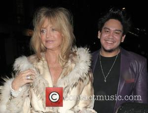 Goldie Hawn and Prince Azim Leaving Cipriani Restaurant