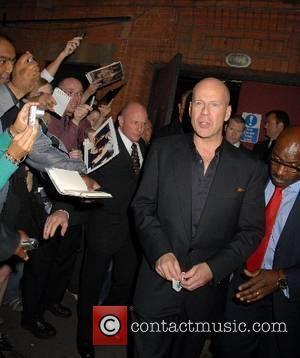 Bruce In London For Die Hard Premiere