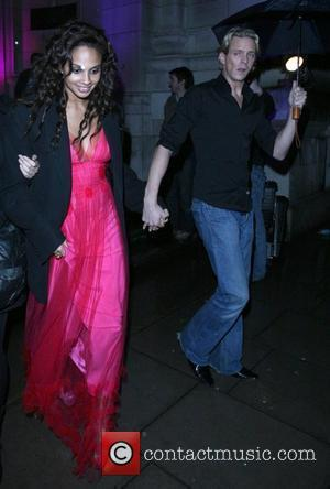 Alesha Dixon and Matthew Cutler leaving the Royal Albert Hall, after watching a performance of Cirque Du Soleil. London, England...