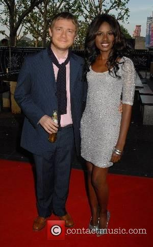 Martin Freeman and June Sarpong,  Cobravision Awards at the BFI - Arrivals London, England - 04.06.07
