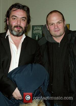 Jez Butterworth and Chris Bauer  attending the Opening Night After Party for Ethan Coen's Almost An Evening at the...