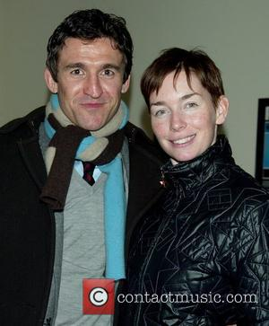 Jonathan Cake and his wife Julianne Nicholson  attending the Opening Night After Party for Ethan Coen's Almost An Evening...