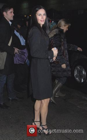 Courteney Cox and David Letterman