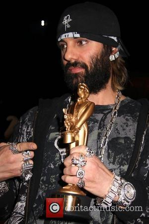 Criss Angel receives the 2008 Merlin Award for 'Magician Of The Year' by the International Magicians Society Las Vegas, Nevada...