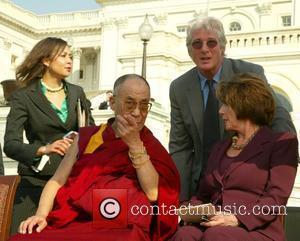 Dalai Lama, Richard Gere and Nancy Pelosi His Holiness the 14th Dalai Lama was awarded the Congressional Gold Medal, at...