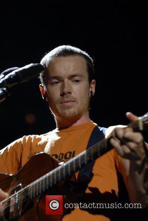 Damien Rice performing at Wembley stadium London, England - 06.10.07
