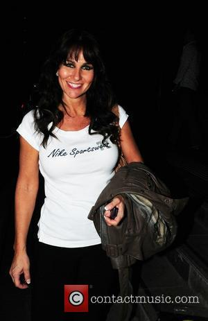 Linda Lusardi returning to the Lowery Hotel after finishing Dancing on Ice tour at The Manchester Evening News Arena...