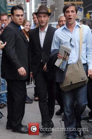 Jude Law and David Letterman