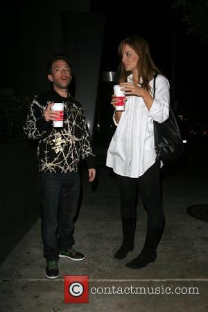 David Faustino Leaves the newsroom restaurant on Robertson after dining with his girlfriend Los Angeles, California - 11.11.07