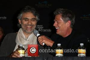 Andrea Bocelli and David Foster Press Conference for 'David Foster & Friends' concert at Mandalay Bay Resort Las Vegas, Nevada...
