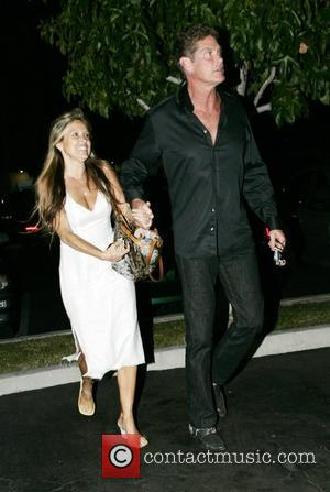 David Hasselhoff and his girlfriend leaving the Porta Via Resturant at Cross Creek Malibu, California - 01.09.07