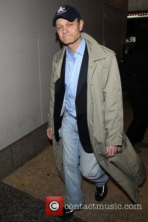 Award-winning American actor and 'Frasier' star David Hyde Pierce out and about in Times Square New York City, USA -...