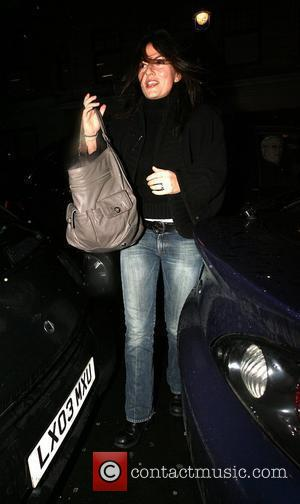 Davina McCall arriving at the BBC Radio 1 studio to discuss the 'Sport Relief' campaign on The Chris Moyles Show...