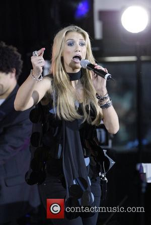 Delta Goodrem performs a free concert in Martin Place to mark the beginning of National Youth Week.  Sydney, Australia...