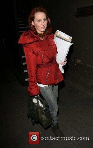 Siobhan Donaghy leaving the Duke of York Theatre after appearing in 'Rent'