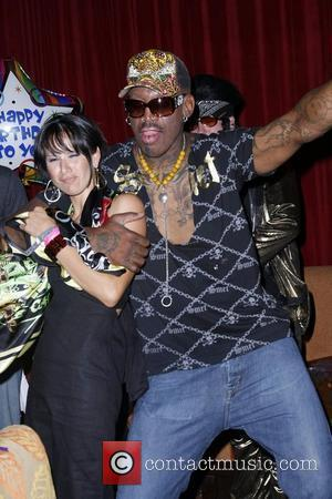 Dennis Rodman and Guest Dennis Rodman celebrates his 47th birthday at Planet Hollywood hotel and Casino Las Vegas, Nevada -...