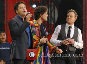 Donny Osmond, Lee Mead and Jason Donovan The Concert for Diana at Wembley Stadium  London, England - 01.07.07