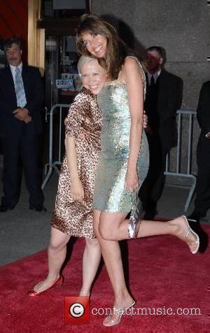 Oksana Baiul and Carol Alt New York Premiere of 'Live Free Or Die Hard' held at Radio City Music Hall...